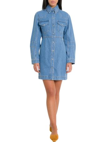 Nanushka Vilm Western Shirt Dress