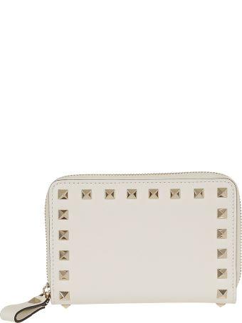 Valentino Garavani Medium Rockstud Zip Around Wallet