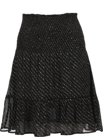 Ganni Floral Print A-line Skirt