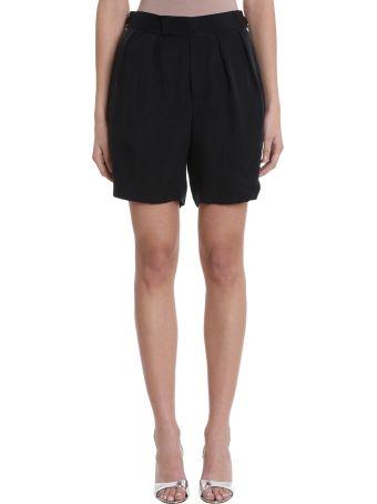 Neil Barrett Black Black Cupro Pence Shorts