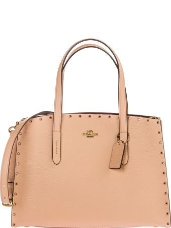 Coach  Leather Handbag Shopping Bag Purse Charlie