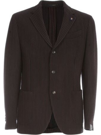Lardini Easy Drop Vertical Pinstriped Jacket