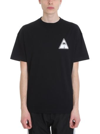 Palm Angels Palm Icon Black Cotton T-shirt
