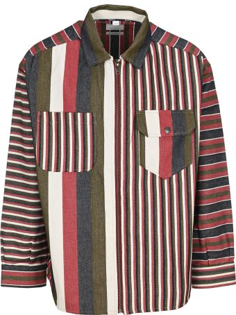 Napa By Martine Rose Napa By Martin Rose Sriped Zip-up Shirt