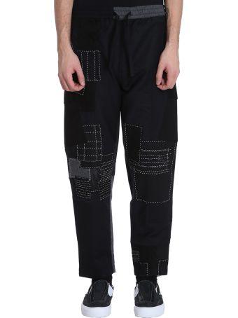 Maharishi Black Wool Boro Cargo Pants Trackpants