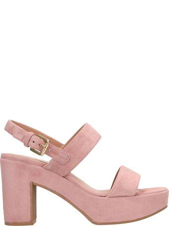 L'Autre Chose Pink Suede Leather Sandals