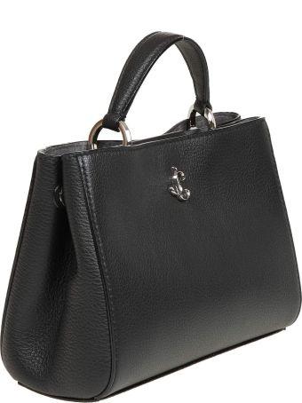 Jimmy Choo Varenne Tophandle S Bag In Black Leather