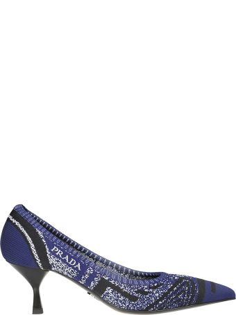 Prada Knitted Pointed Pumps
