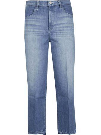J Brand Wide Leg Cropped Jeans