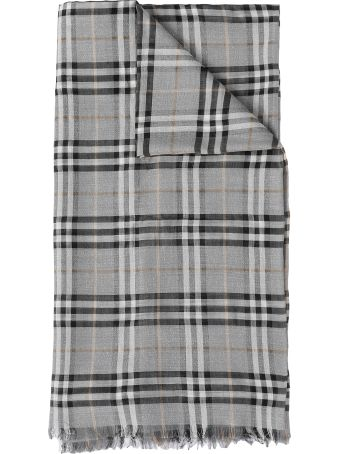 Burberry Vintage Check Metallic Gauze Scarf