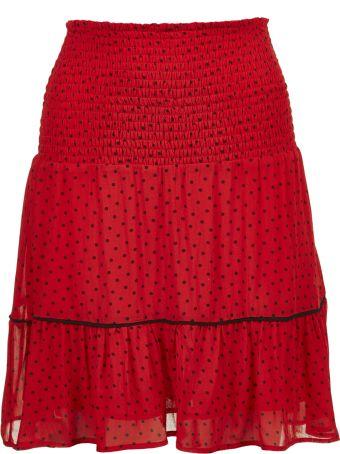Ganni Dotted Print Skirt