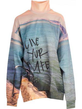 Marques'Almeida Marques` Almeida Slogan Color Block Sweater