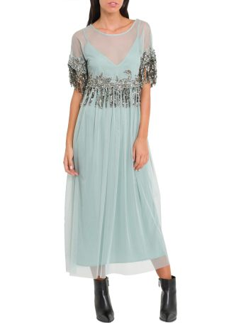 SEMICOUTURE Transparente Dress With Undeshirt And Decorations