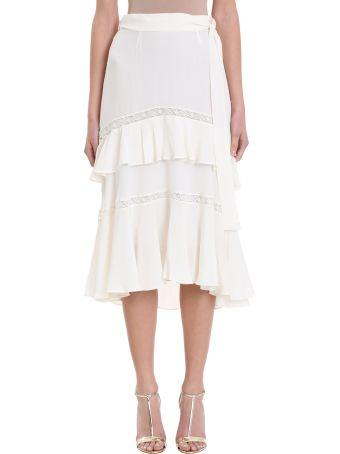 Zimmermann Lace Up Silk Skirt