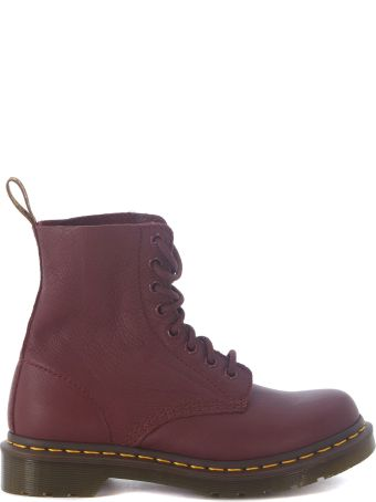 Dr. Martens Pascal Cherry Red Nappa Leather Ankle Boot