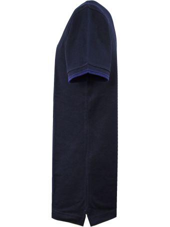 Fay Polo In Blue Piquet, Stretch-cotton