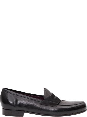 Lidfort College Loafer With Suede Band