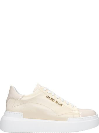 Marc Ellis Sneakers In Gold Satin
