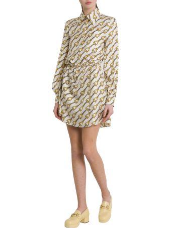 Gucci Silk Dress With Stirrups Print