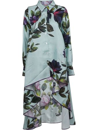For Restless Sleepers F.r.s. For Restless Sleepers Floral Print Asymmetric Dress