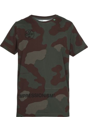 Off-White Stencil Camouflage T-shirt