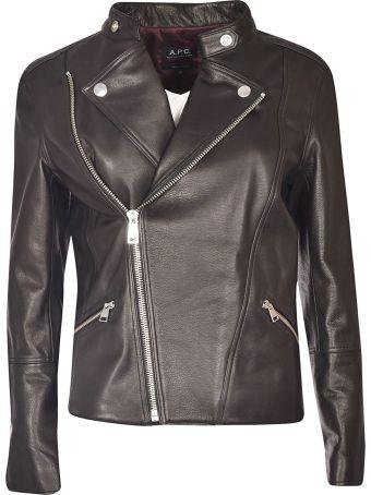 A.P.C. Zipped Biker Jacket