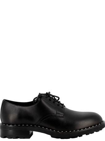 Ash Black Leather Lace-up Shoes