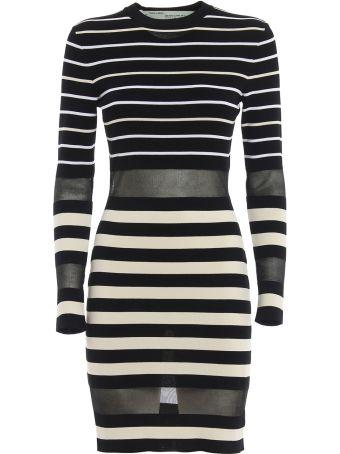 Off-White Multi Stripes Knit Mini Dress