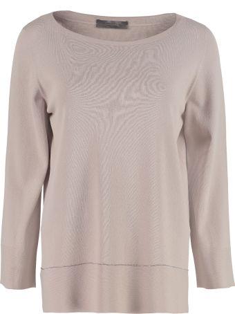 D.Exterior Knitted Viscosa-blend Top