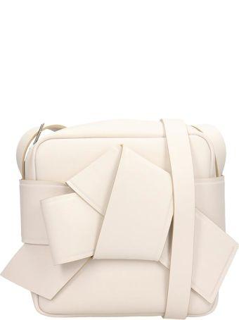 Acne Studios White Leather Musubi Camera Bag