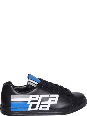 Prada Linea Rossa Black Avenue Low-top Sneakers