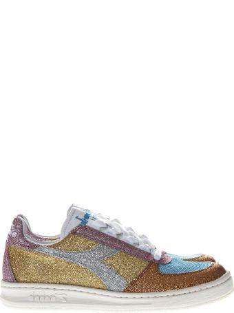 Diadora B Elite H Glitter Multicolor Leather Sneakers