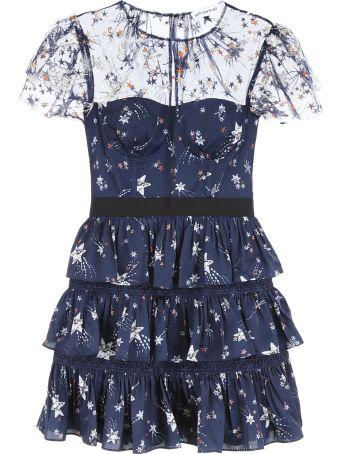 self-portrait Star Print Mini Dress