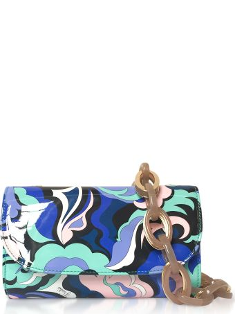 Emilio Pucci Optical Printed Leather Cosmetic Case/pouch