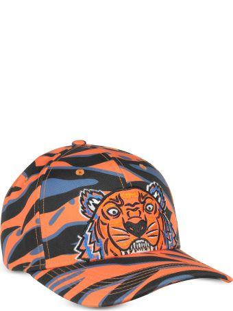 Kenzo Kenzo Tiger Orange Cotton Hat