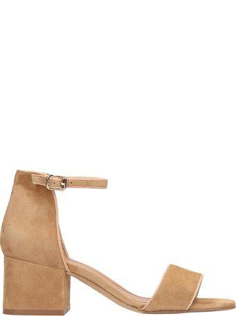 Julie Dee Beige Suede Sandals
