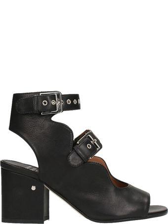 Laurence Dacade Noe Studs Black Leather Sandals