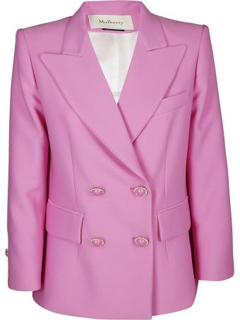 Mulberry Double Breasted Buttoned Blazer