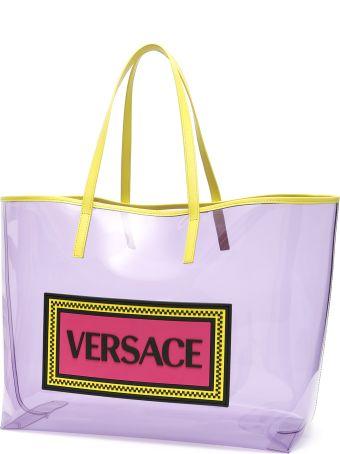 Versace 90s Vintage Logo Pvc Shopper
