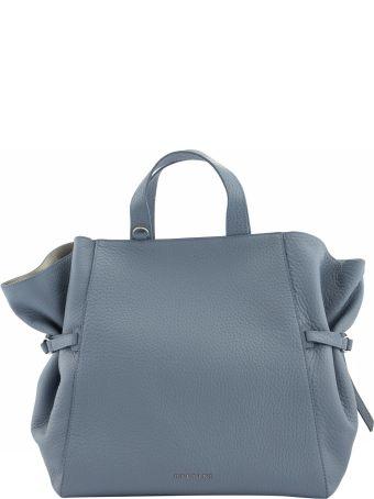 Orciani Fan Soft Large Leather Handbag