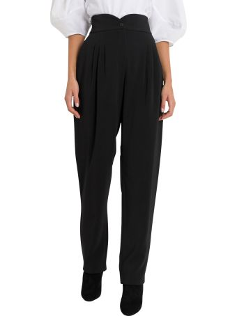 Alberta Ferretti Egg Shaped Trousers With Pinces