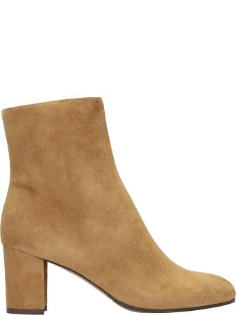 L'Autre Chose Camel Suede Leather Ankle Boots