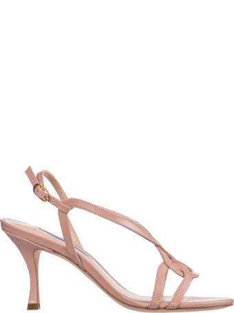 Stuart Weitzman  Leather Heel Sandals Clarice