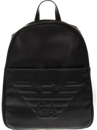 Emporio Armani Emporio Armani Black Backpack