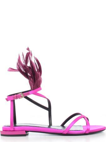 Lanvin Fringed Detail Sandals