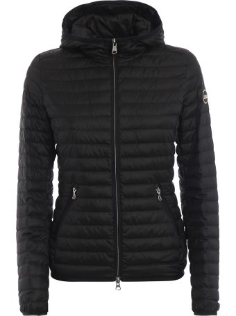 Colmar Hooded Black Puffer Jacket