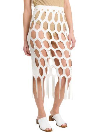 Sonia Rykiel Honeycomb Midi Skirt