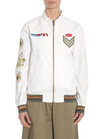 Mr & Mrs Italy Denim Bomber Jacket