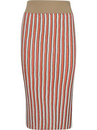 Circus Hotel Striped Pencil Skirt