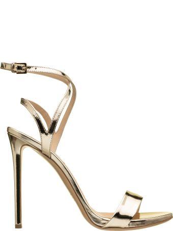 Ninalilou Ninalilou Mirror Effect Letaher Sandals